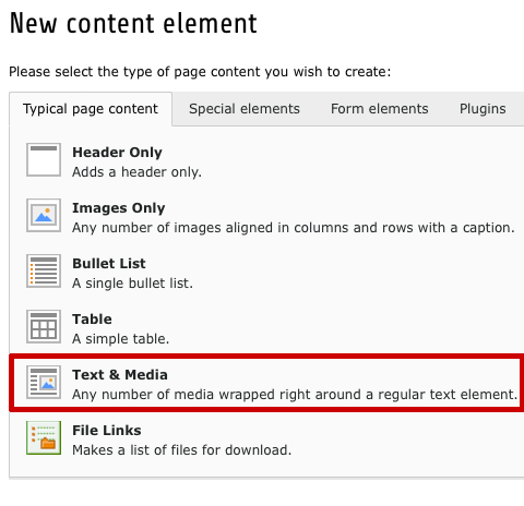 TYPO3-7lts-Content-Element-Text-Media