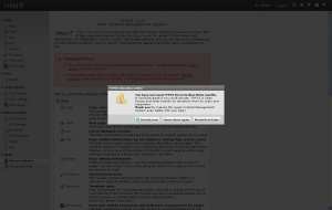 Donation Screen seit TYPO3 4.4