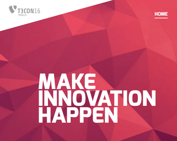 T3CON 2016 München - make innovation happen